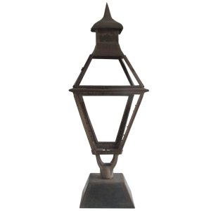 19th Century American Iron Lantern on Stand