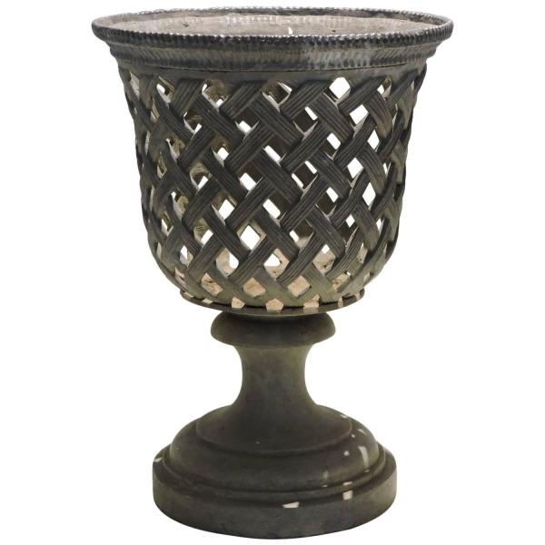 Basket Weave Campagna Form Lead Urn