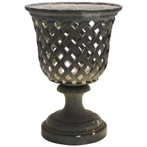 Basket Weave Campagna Form Lead Urn