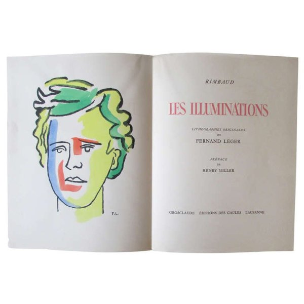 "Fernand Leger - Rimbaud "" Les Illuminations "" Grosclaude"