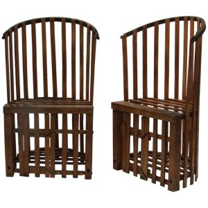 Unusual Old Lobster Trap Chairs