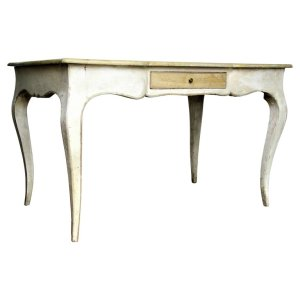 Louis XV Style Desk in Old Painted & Faux Marbleized Finish