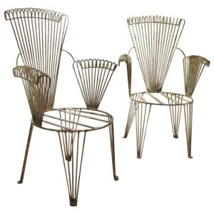 Mategot style French Wire Armchairs