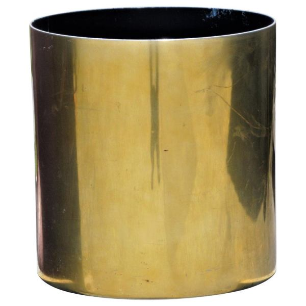 Cylindrical Brass Planter by Paul Mayen Habitat International
