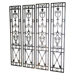 Neoclassical Architectural Iron Panels