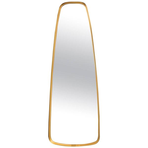 1960's Oblong Brass Mirror