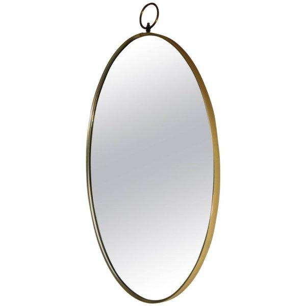 Ring Top Oval Brass Mirror style Gio Ponti