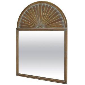 White Washed Pine Palladian Sun Ray Mirror by Chapman