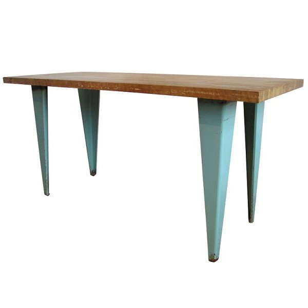 Industrial Iron Table in the style of Jean Prouve