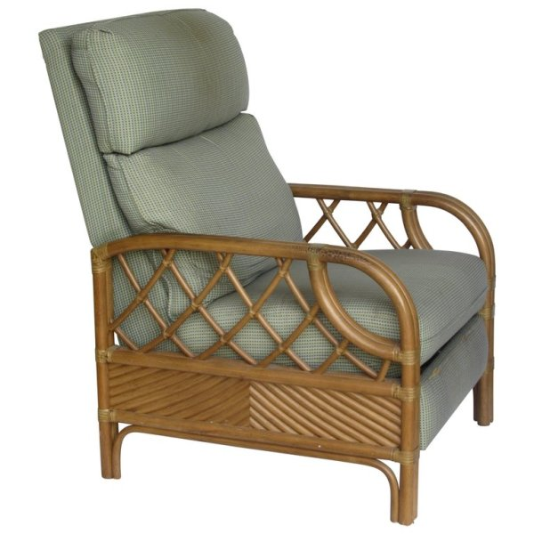 Rattan Reclining Lounge Chair by Lane