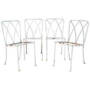 Rare 1940's Salterini Classical X Back Iron Chairs