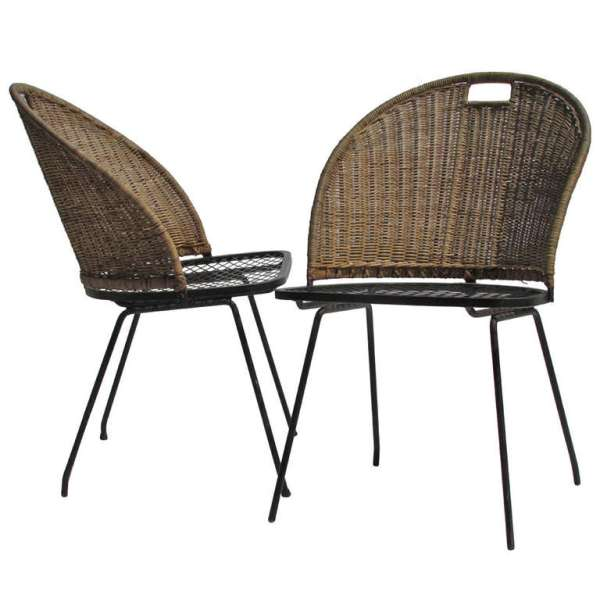 Maurizio Tempestini for Salterini Iron & Wicker Chairs