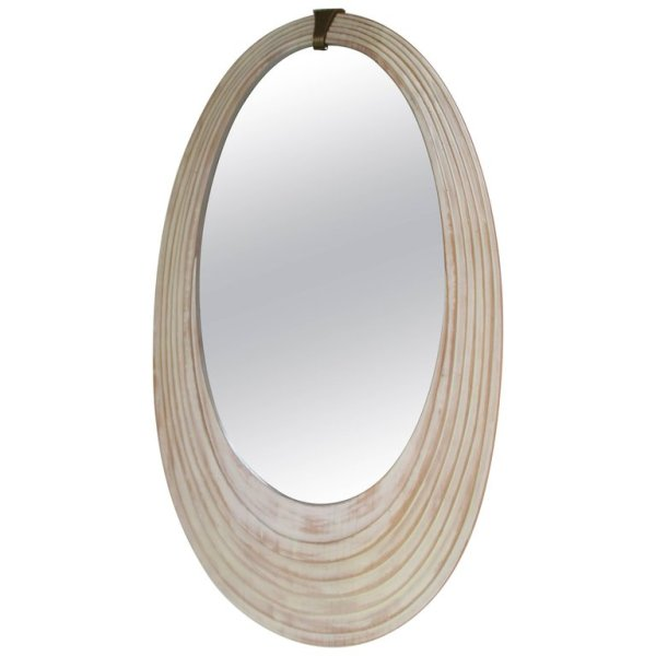 Art Deco style Cerused Mirror by Sarreid