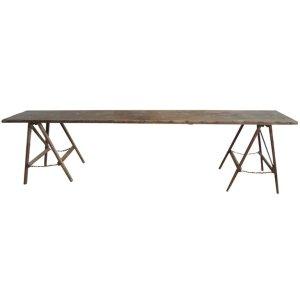Rare Antique American Folding Sawhorse Base Field Table
