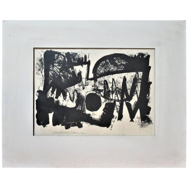 American Abstract Lithograph by William F. Sellers