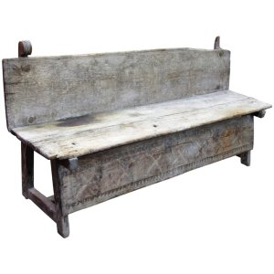 18th Century Carved Spanish Bench