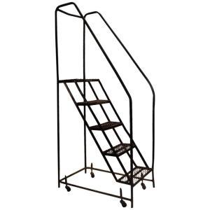 American Industrial Steel Rolling Stair Ladder