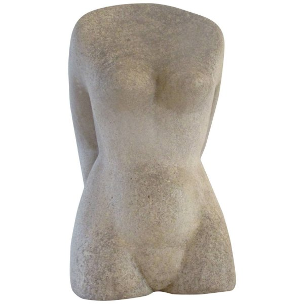 Carved Stone Torso Nude Female