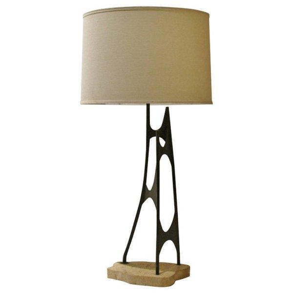 Mauriizio Tempestini Abstract Iron Sculpture Lamp