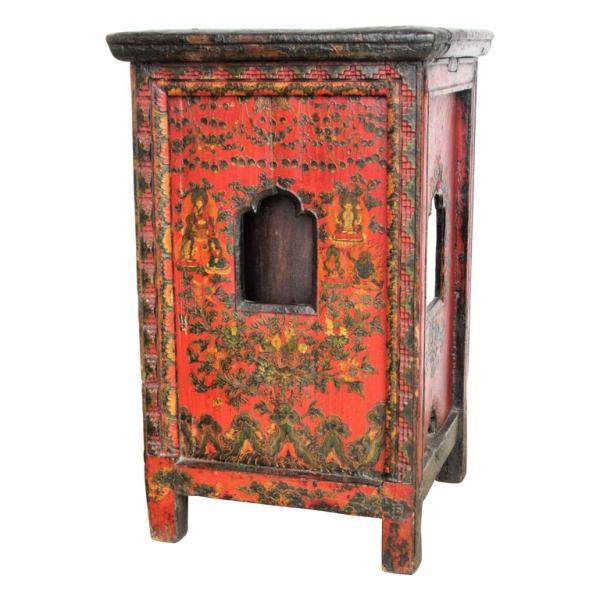 Antique Tibetan Prayer Wheel Table