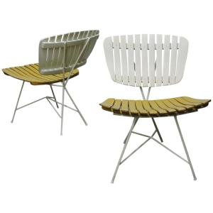 Arthur Umanoff Slat Back Side Chairs