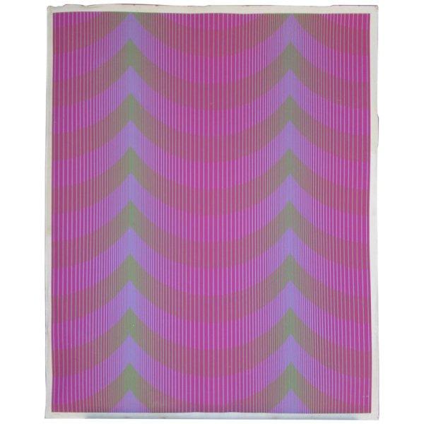 """Julian Stanczak - Op Art Silkscreen """" Veiled """" 63/90 - 1972"""