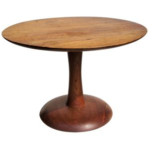 American Studio Craft Movement Turned Wood Table 1970's