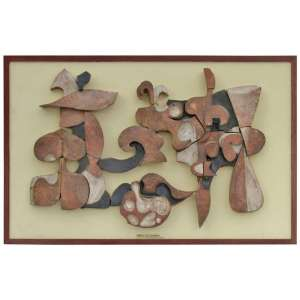 Rare Abstract Ceramic Mural by Frans Wildenhain