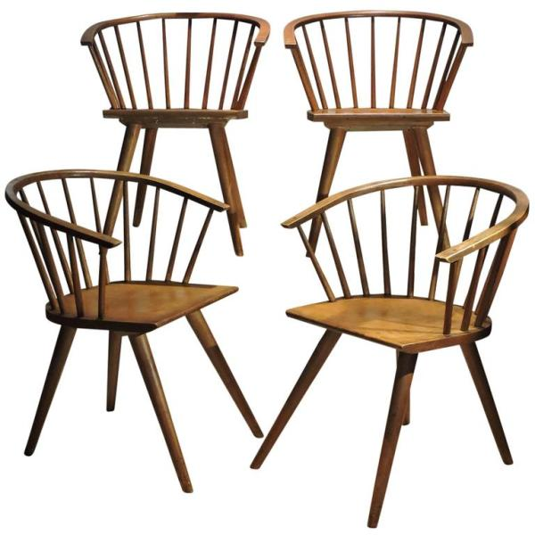 Modernist Windsor Chairs by Russel Wright for Conant Ball