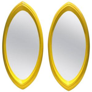 Pop Art Yellow Resin Mirrors