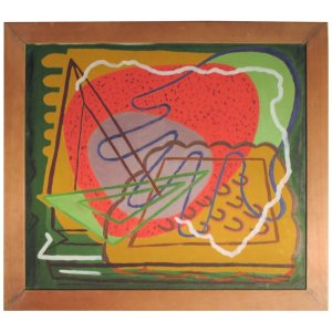 Zoute' Abstract Modernist Painting
