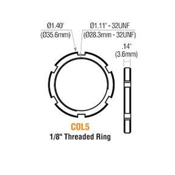 GMS COL 5 Threaded Mortise Cylinder Ring, Cash Box Nut