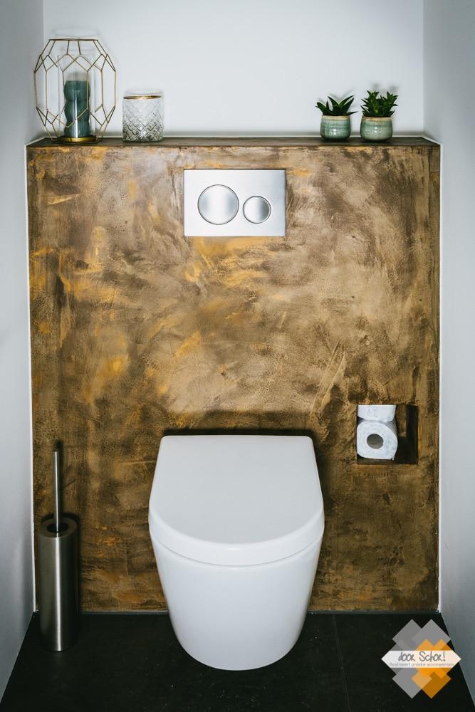 Mat witte toiletpot