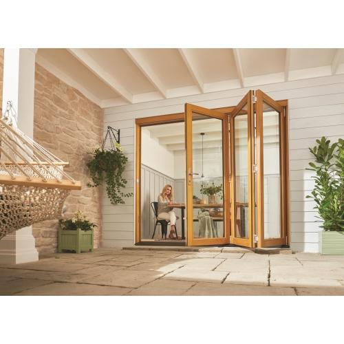 jeld wen 2400mm kinsley hardwood folding patio doors