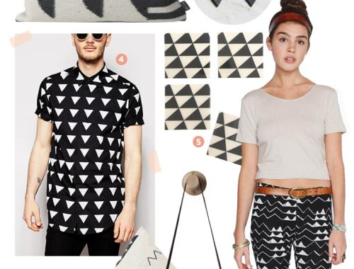 black & white triangles - doorsixteen.com