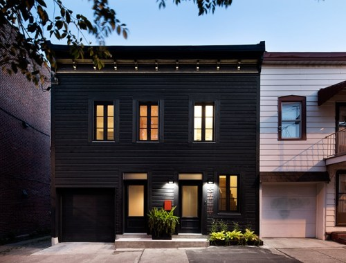 Black house in Montreal designed by Architecture Open Form - doorsixteen.com