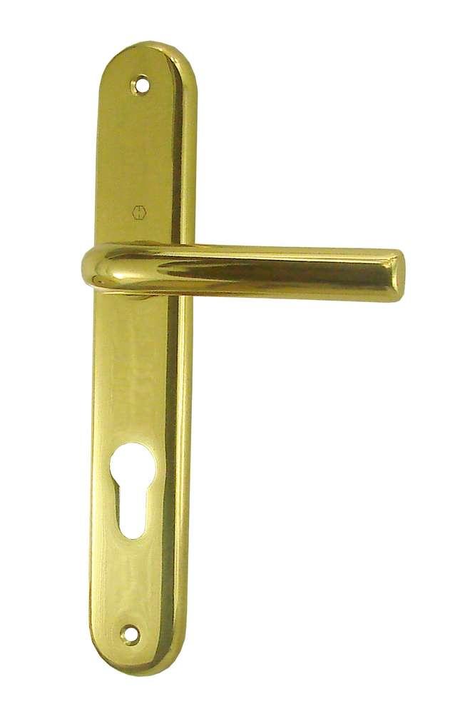 poignees orly cylindre 195 mm laiton poli verni