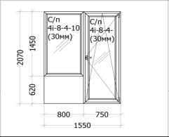 Цена - 645$ - Дверь на балкон с окном