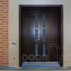 двери из ясеня на две створки