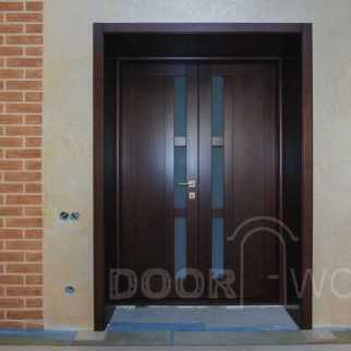 ed12f7cf9542 Двустворчатая межкомнатная дверь из ясеня, вид со стороны комнаты