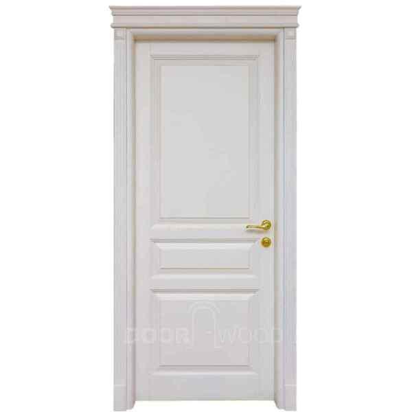 Двери из ясеня Old Town 5.1 белая с карнизом