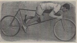 cycliste penché