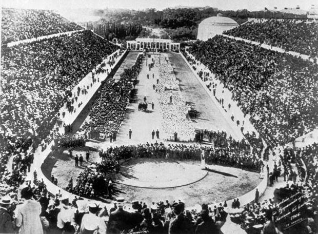 The Opening Ceremony at the 1896 Athens Olympics.