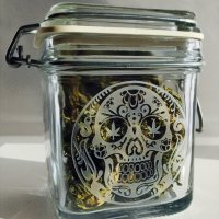 Dope Jars® Swing Top Stash Jar - Skull