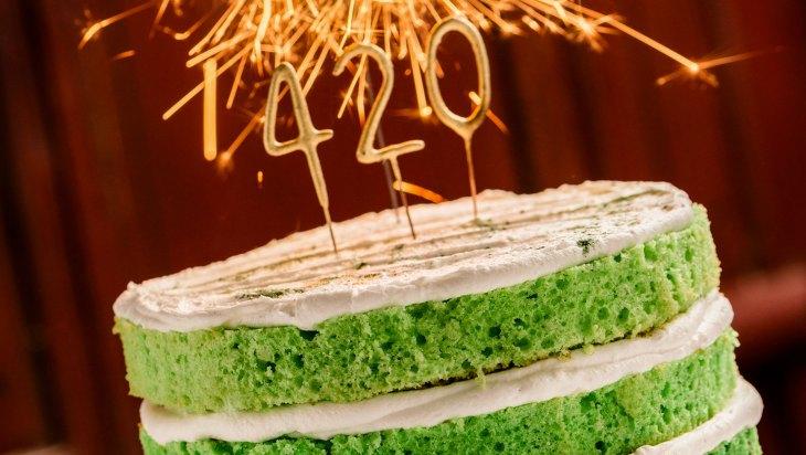 Infused Green-Velvet Cake Recipe