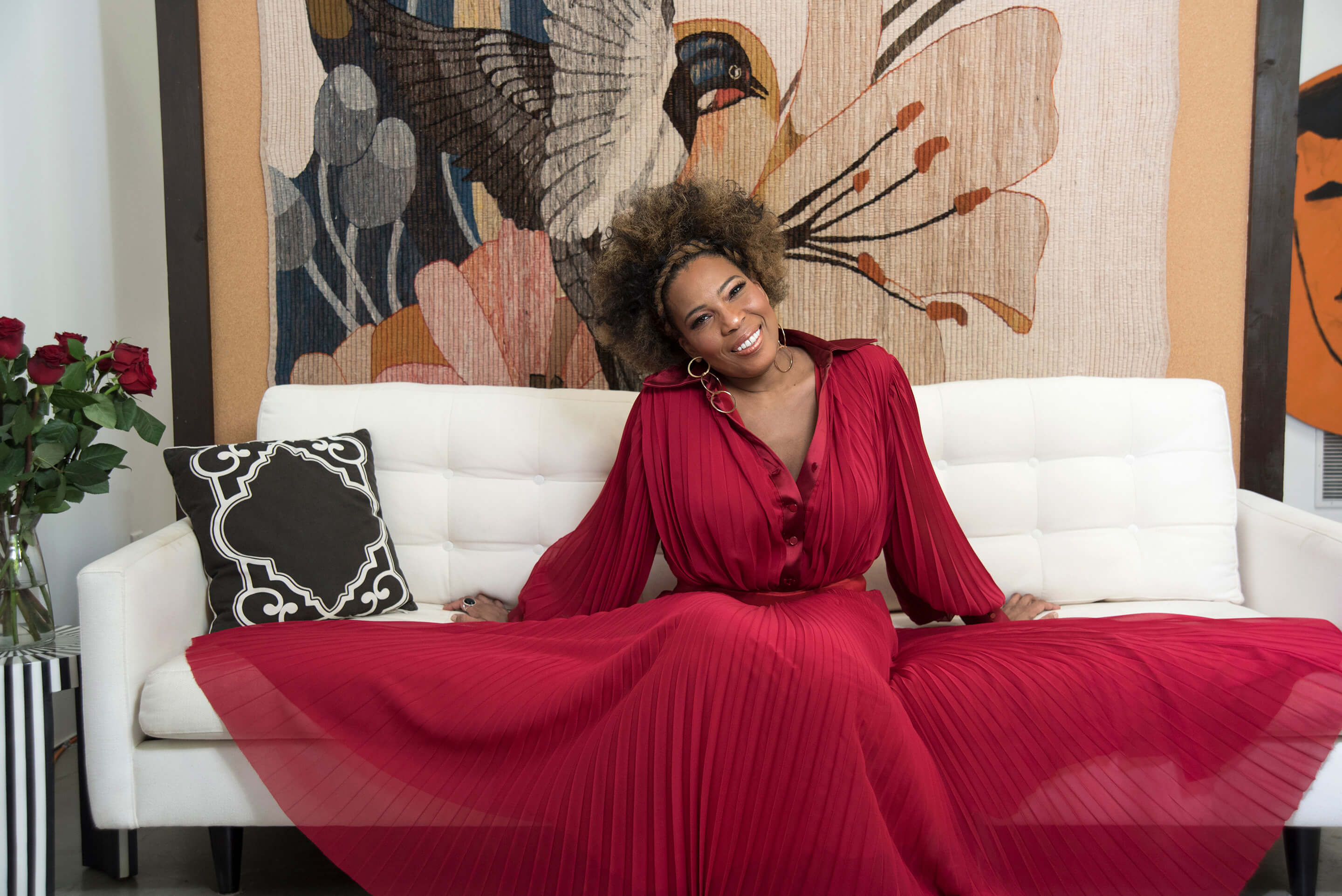 Macy Gray flashes a smile for the 2018 May Sustainability Issue of DOPE Magazine...