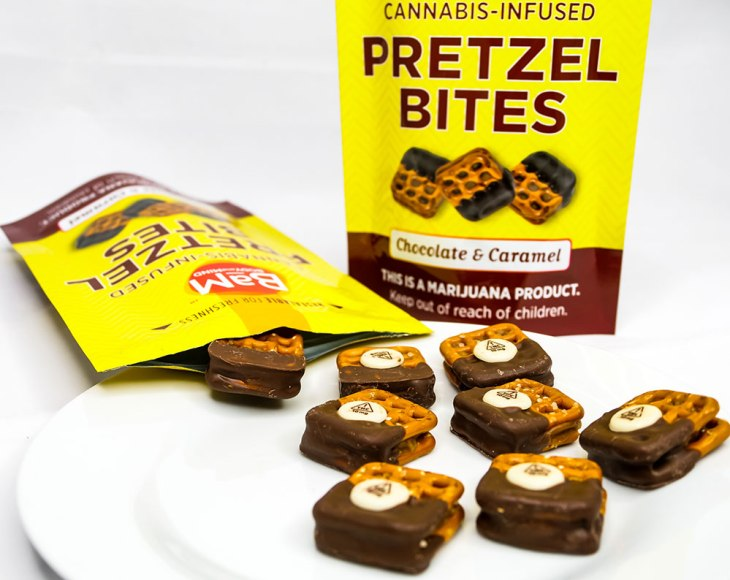 Cannabis Infused Chocolate & Caramel Pretzel Bites by BaM