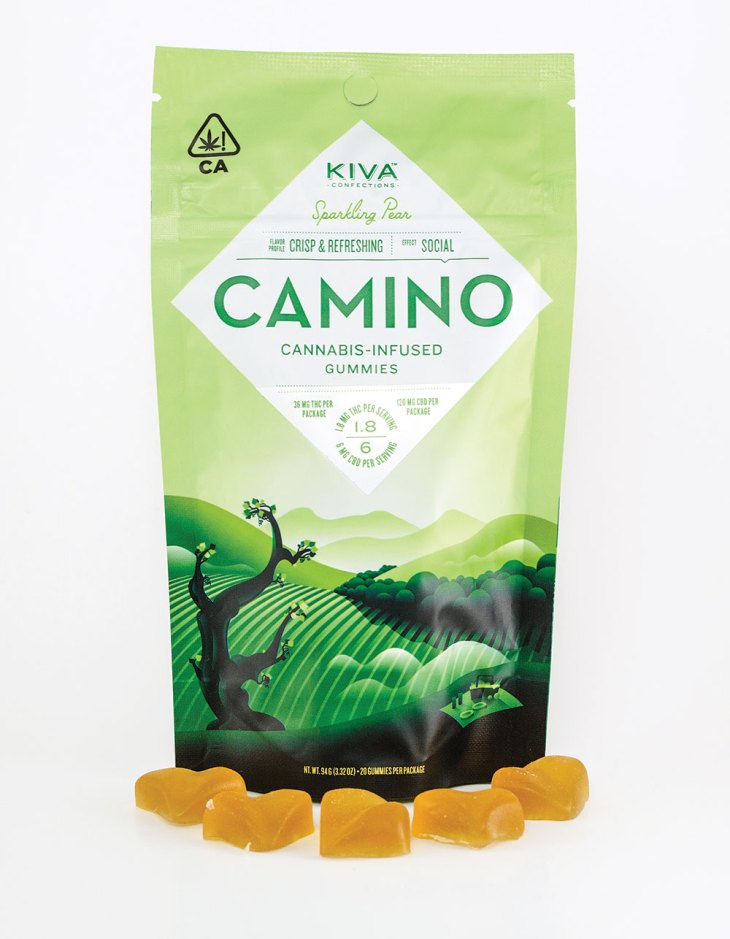Camino Sparkling Pear Gummies by Kiva Confections