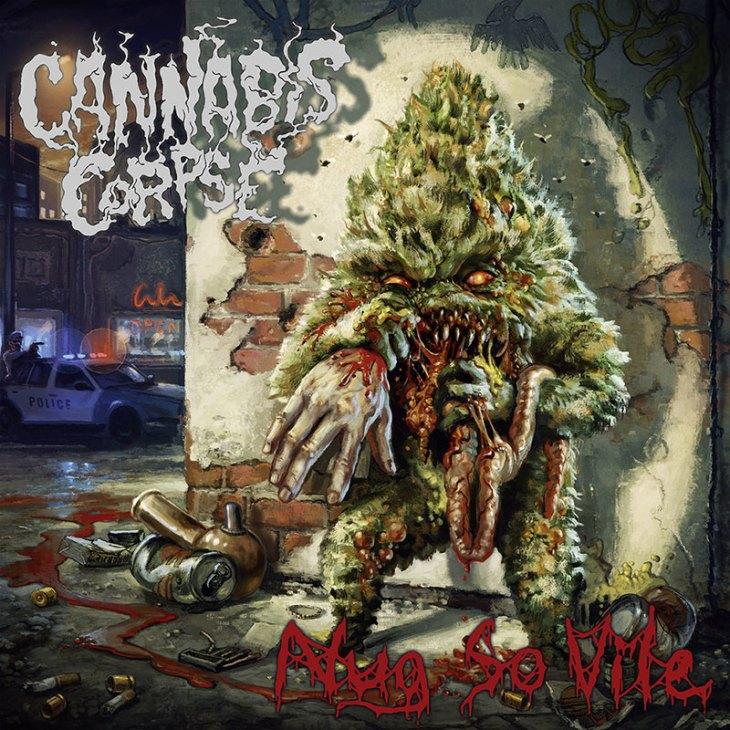 "Death metal band Cannabis Corpse album ""Nug So Vile"""