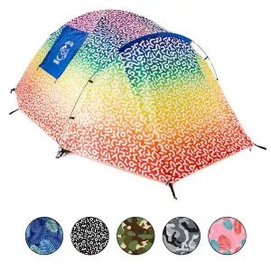 Chillbo CABBINS Camping Tent Best 2 Person Tent with Cool Patterns for Campers Camping Accessories for Backpacking
